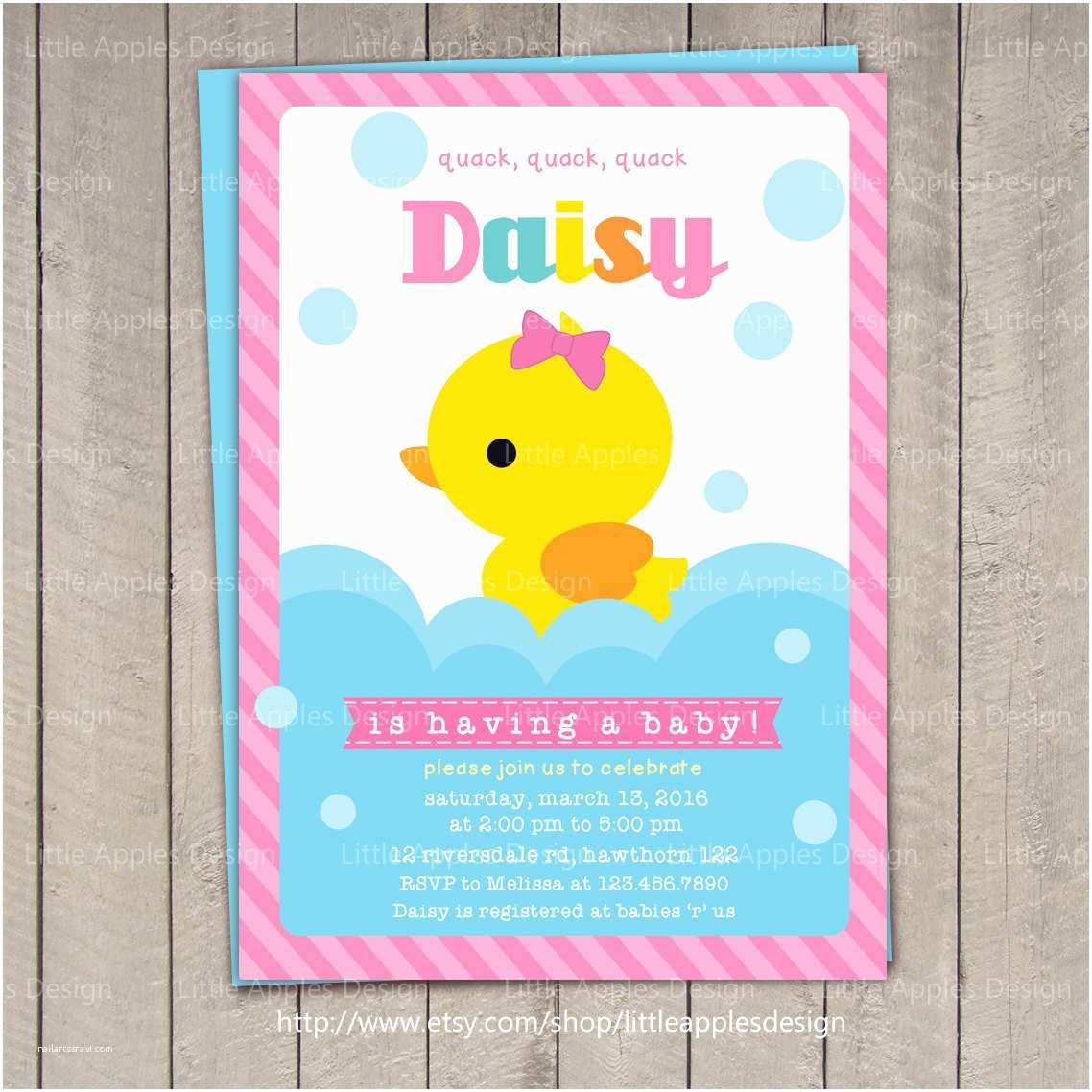 Duck Baby Shower Invitations Duck Baby Shower Invitation Rubber Duck Baby Shower