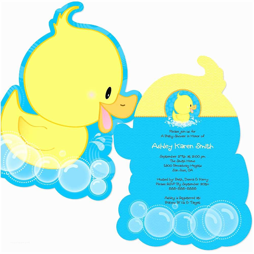 Duck Baby Shower Invitations Ducky Baby Shower Invitations