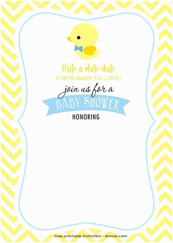 Duck Baby Shower Invitations Free Printable Rubber Duck Invitation Template