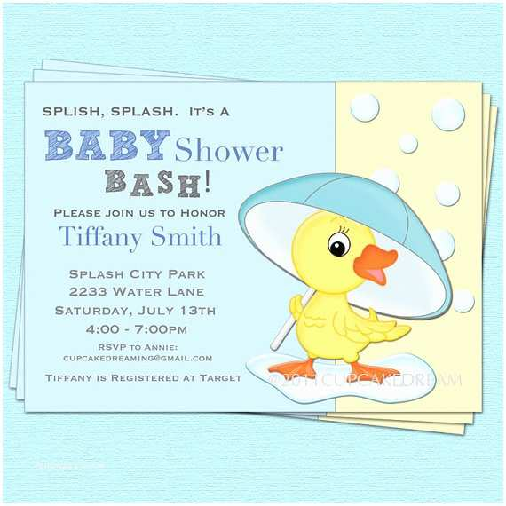 Duck Baby Shower Invitations Items Similar to Duck Baby Shower Invitation Baby Boy Girl