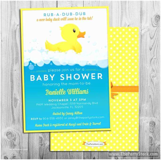 Duck Baby Shower Invitations Rubber Duck Baby Shower Invitation
