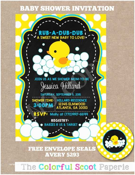 Duck Baby Shower Invitations Rubber Duck Baby Shower Invitation Rubber by thecolorfulscoot