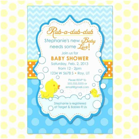 Duck Baby Shower Invitations Rubber Duck Baby Shower Invitation Rubber Duckie Printable