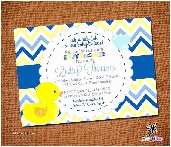 Duck Baby Shower Invitations Rubber Duck Boy Printable Baby Shower Invitation Ducky