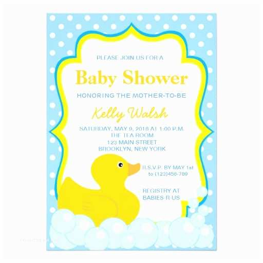"Duck Baby Shower Invitations Rubber Ducky Baby Shower Invitations 5"" X 7"" Invitation"