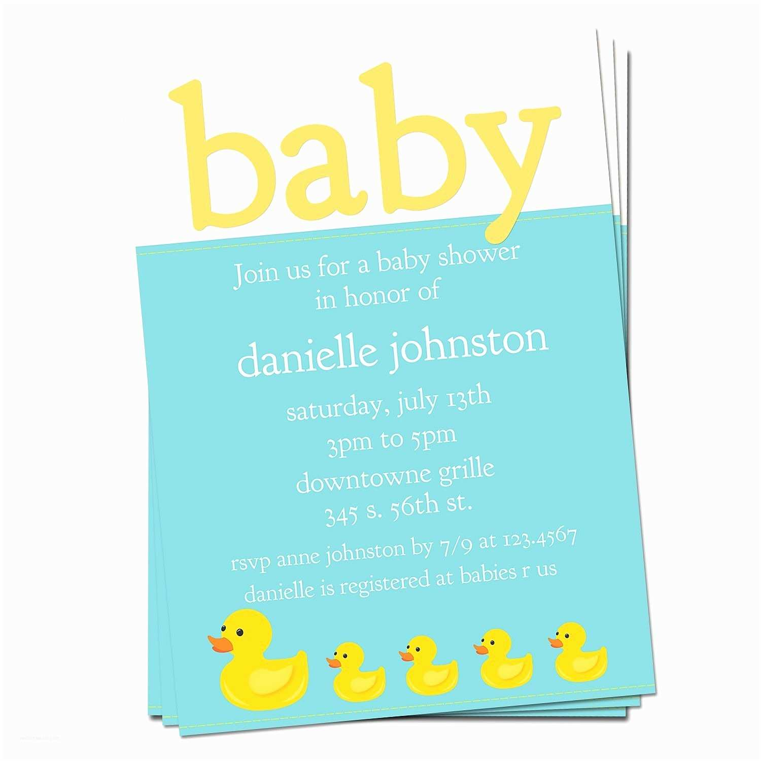 Duck Baby Shower Invitations Rubber Ducky Baby Shower Invitations