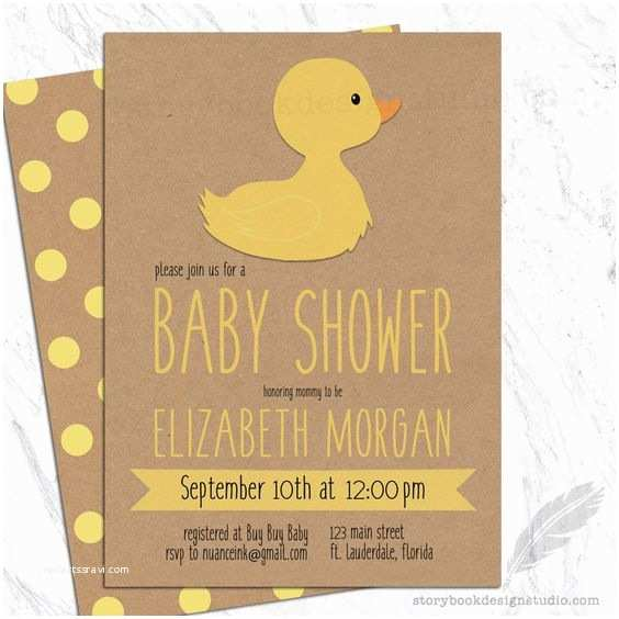 Duck Baby Shower Invitations Rubber Ducky Baby Shower Invitations Yellow Duck Gender