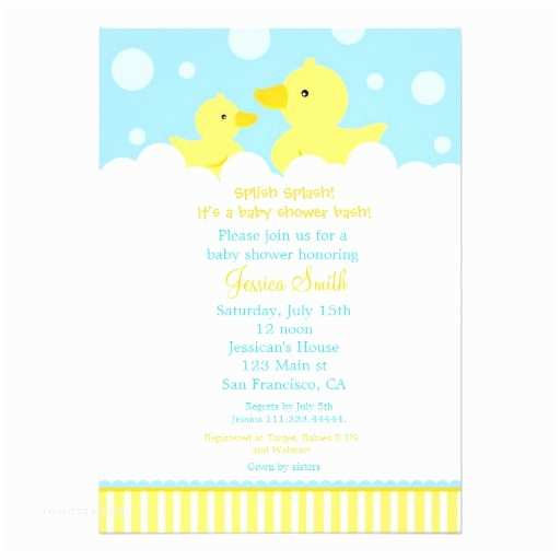 Duck Baby Shower Invitations Rubber Ducky Duck Baby Shower Invitation for Girl