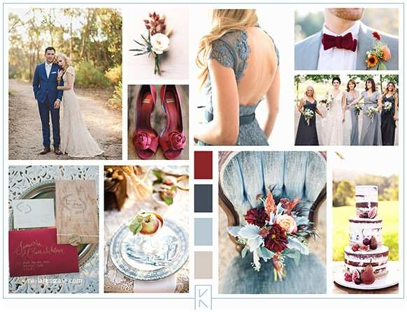 Dusty Blue and Cranberry Wedding Invitations Katie Saeger events End Of 2014