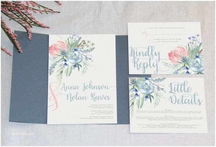 Dusty Blue Wedding Invitations Best 25 Slate Blue Weddings Ideas On Pinterest