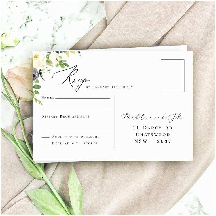 Dusty Blue Wedding Invitations Dusty Blue Garden Wedding Invitation – the Belavi Printery