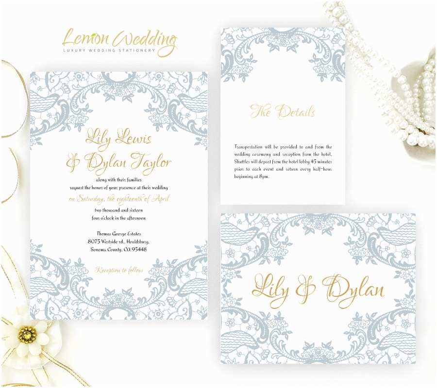 Dusty Blue Wedding Invitations Dusty Blue Wedding Invitations Printed White Shimmer Cardstock