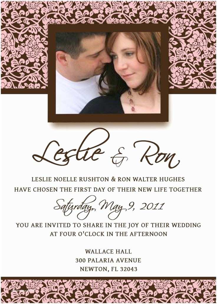 E Wedding Invitation Homemade Wedding Invitation Template