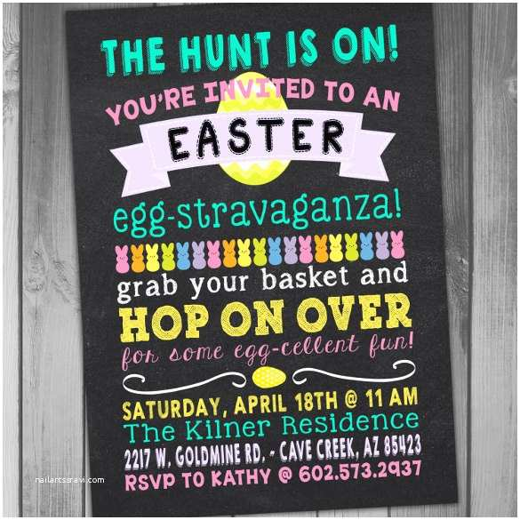 Easter Party Invitations 32 Easter Invitation Templates – Free Sample Example