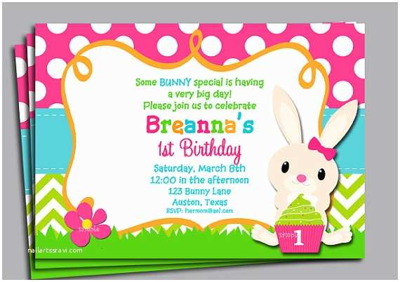Easter Party Invitations Easter Birthday Invitation Printable or Printed with Free