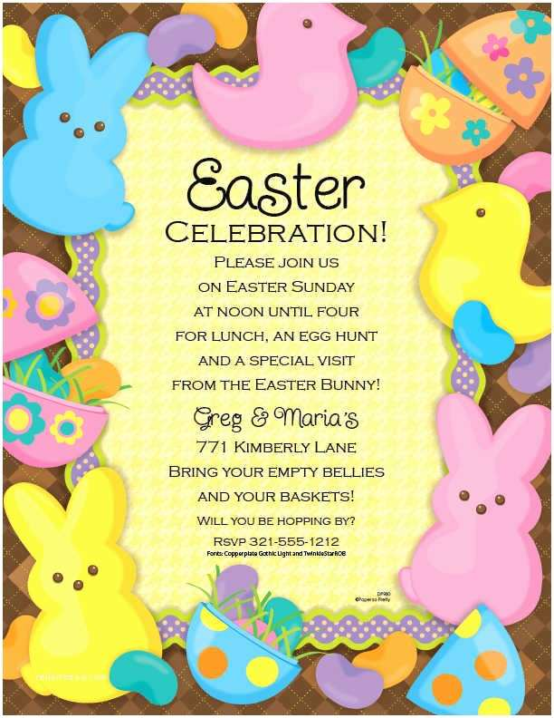 Easter Party Invitations Easter Church Invitation Template Templates Resume