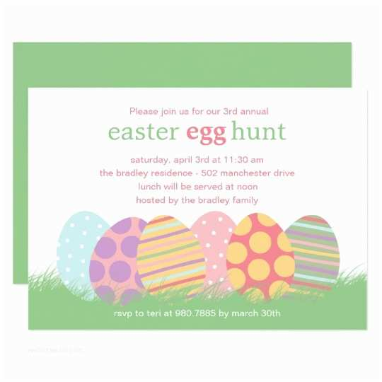 Easter Party Invitations Easter Eggs Easter Party Invitation