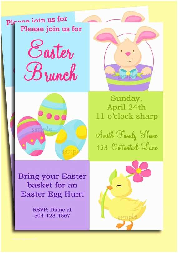 Easter Party Invitations Easter Invitation Printable or Printed with Free Shipping