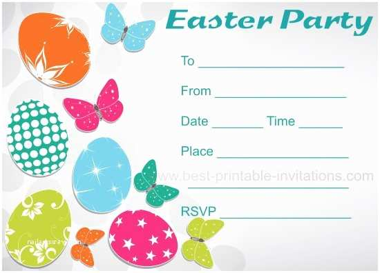 Easter Party Invitations Free Printable Easter Party Invitations