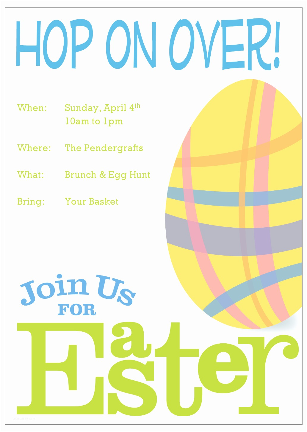 Easter Party Invitations Interesting Easter Invitation Card Template Design with