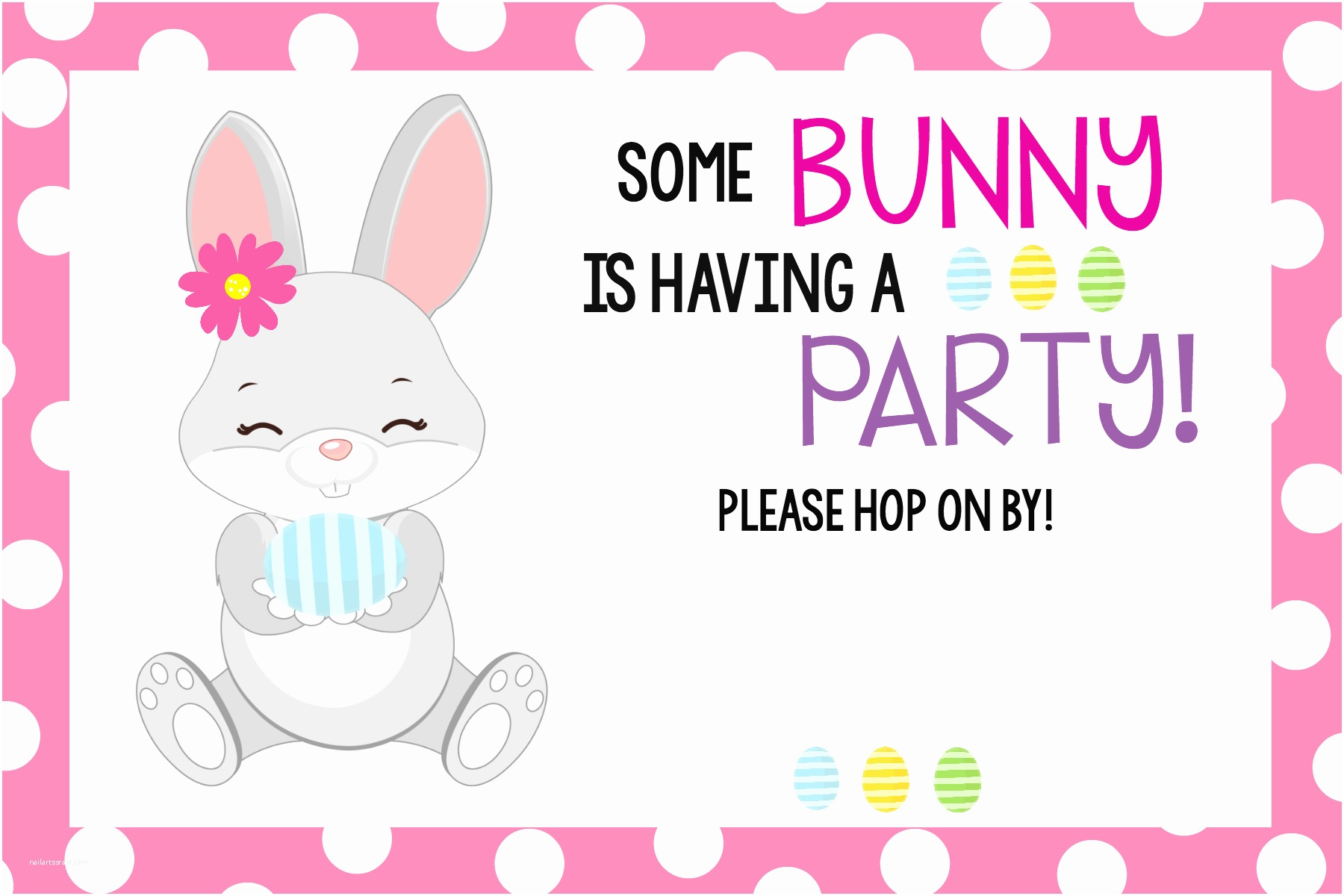 """Easter Party Invitations """"some Bunny Loves You"""" Easter Party – Fun Squared"""