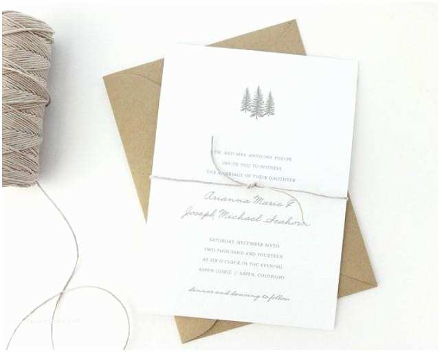 Easy Wedding Invitation Ideas aspen Wedding Invitation Sample Rustic Wedding Invite