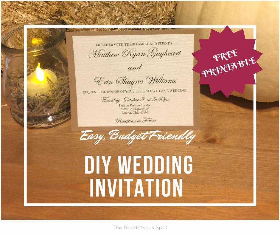 Easy Wedding Invitation Ideas Beautiful Easy Diy Wedding Invitations Styles