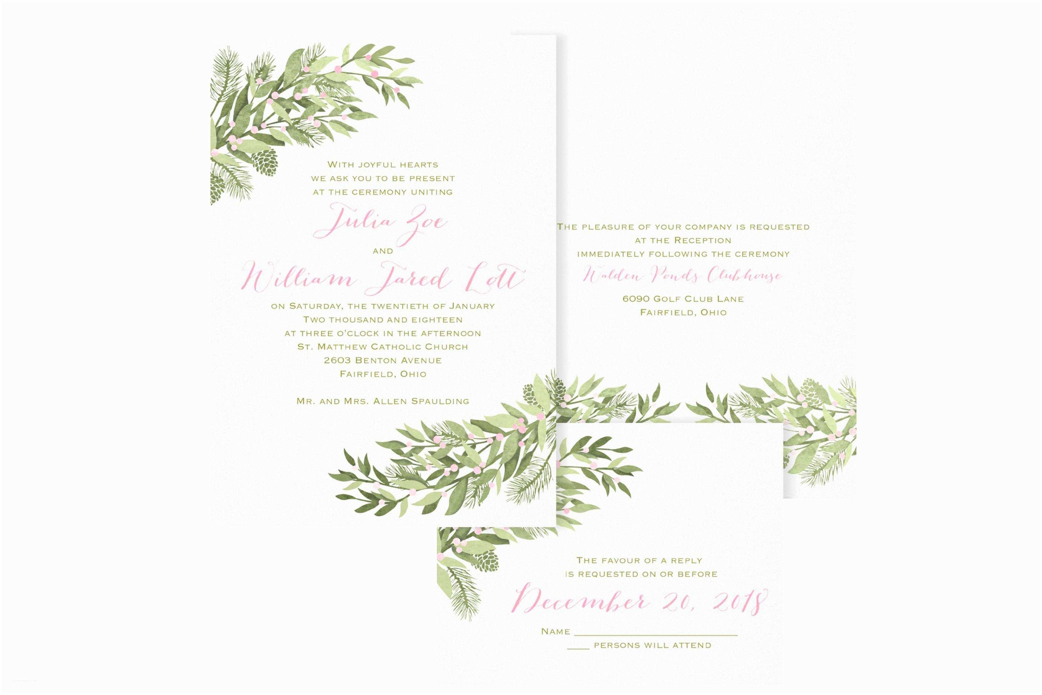 Easy Wedding Invitation Ideas Create Easy Winter Wedding Invitations Free Ideas