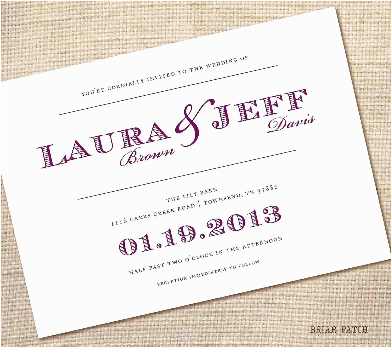 Easy Wedding Invitation Ideas Dreaded Simple Wedding Invitation Wording