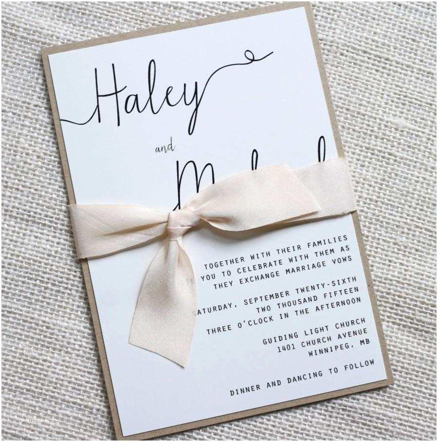 Easy Wedding Invitation Ideas Modern Wedding Invitation Simple Wedding Invitation