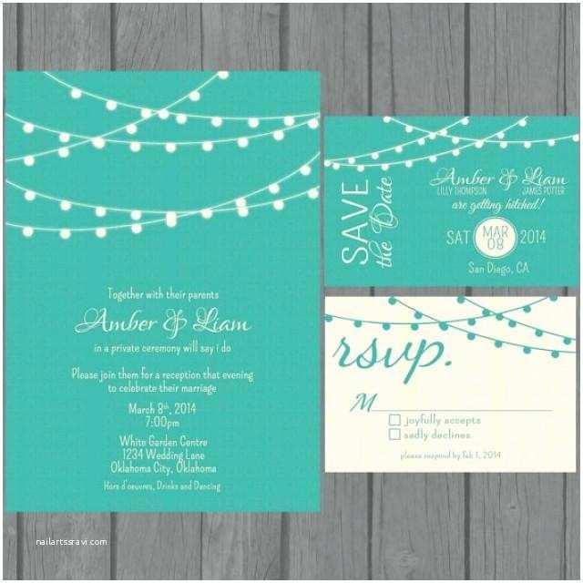 Easy Wedding Invitation Ideas Simple Wedding Invitation Suite Modern Teal Wedding