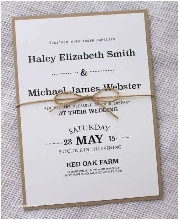 Easy Wedding Invitation Ideas Simple Wedding Invitations Best Photos Cute Wedding Ideas