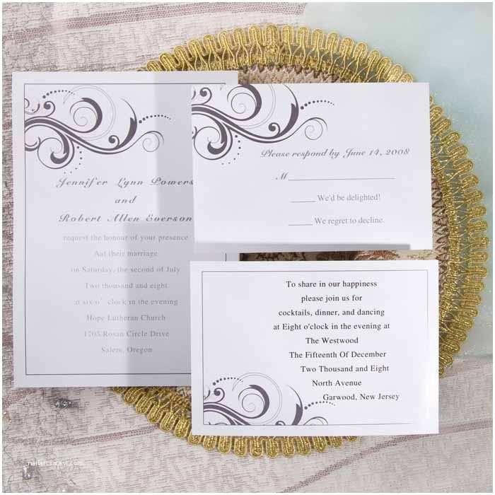 Easy Wedding Invitation Ideas Simple White and Grey Inexpensive Printable Wedding