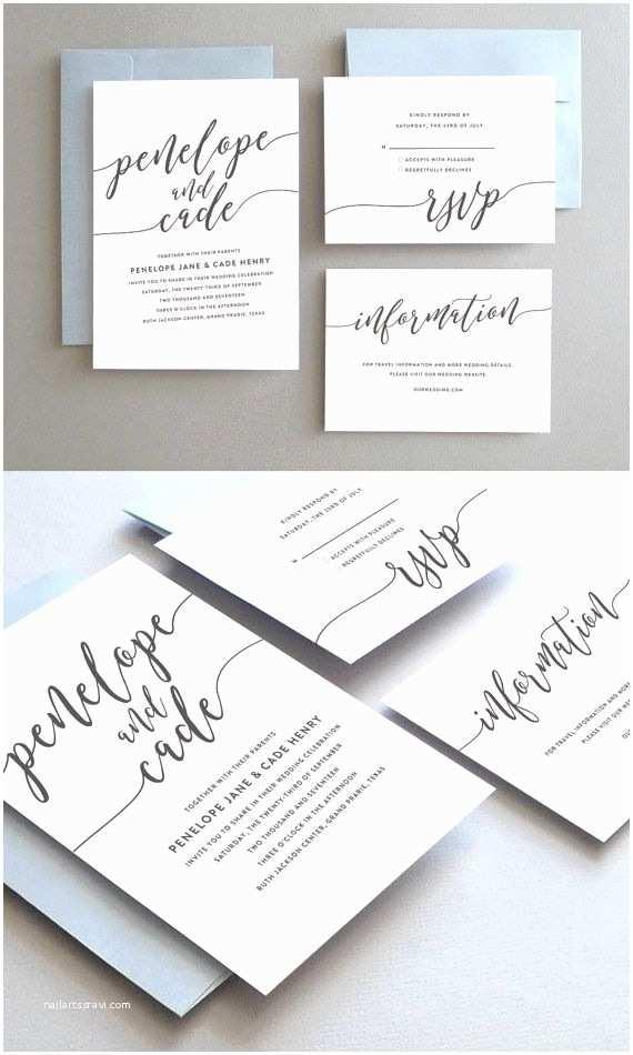 Easy Wedding Invitation Ideas Unique Wedding Invitation Printable Wedding Invitation