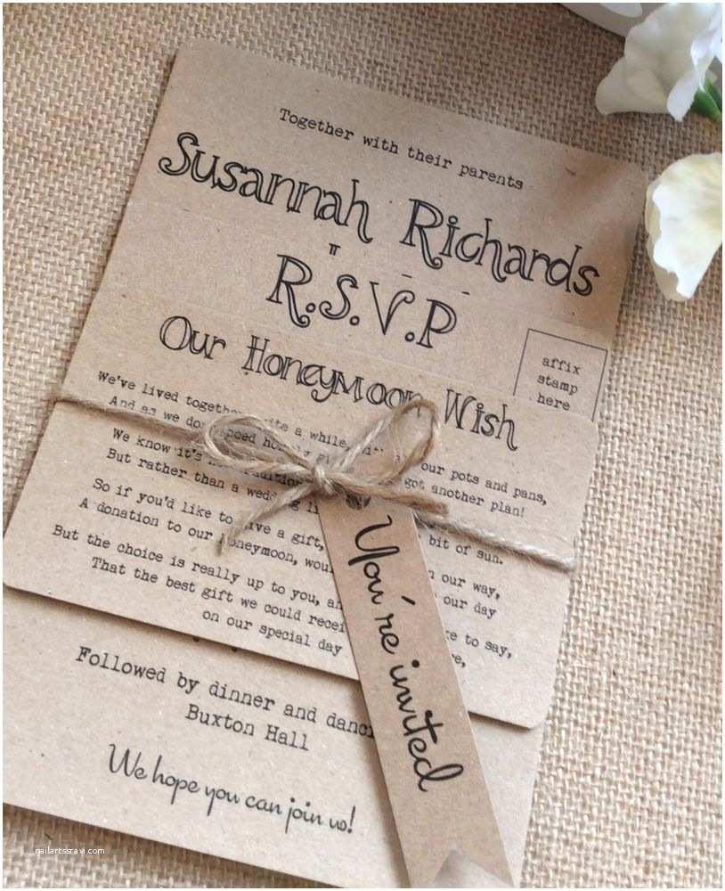 Ebay Wedding Invitations 1 Rustic Vintage Shabby Chic Kraft Bundle Wedding