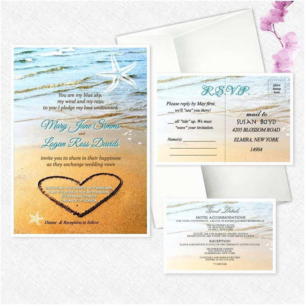Ebay Wedding Invitations Beach Starfish Wedding Invitations Personalized Invites