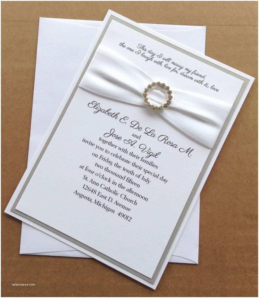 Ebay Wedding Invitations Silver and White Wedding Invitation Set