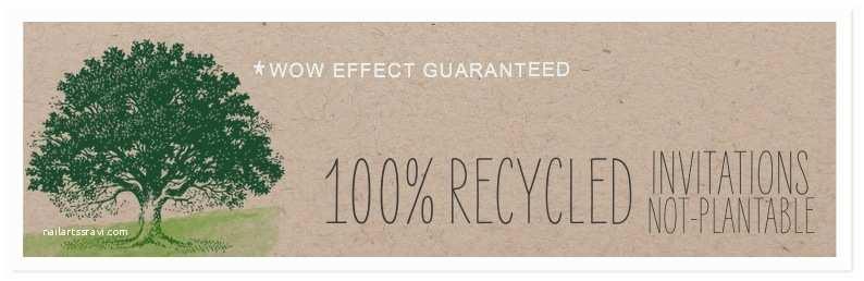 Eco Friendly Wedding Invitations Recycled Paper Wedding Invitations
