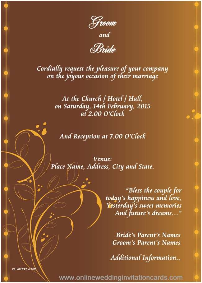 Editable Indian Wedding Invitation Templates Free Download Hindu Wedding Invitation Templates