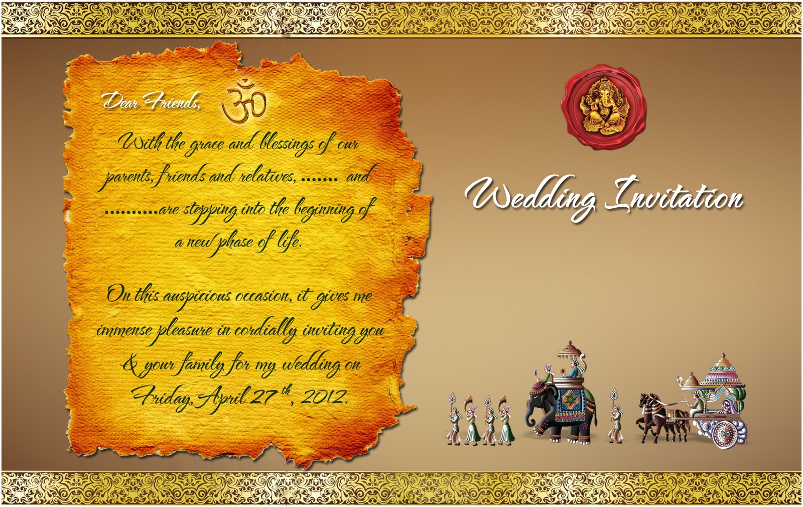 Editable Indian Wedding Invitation Templates Free Download Indian Wedding Card Design Psd Files Free Wedding