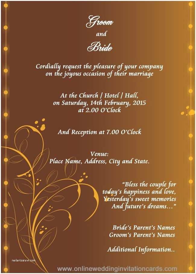 Editable Wedding Invitation Cards Free Download Hindu Wedding Invitation
