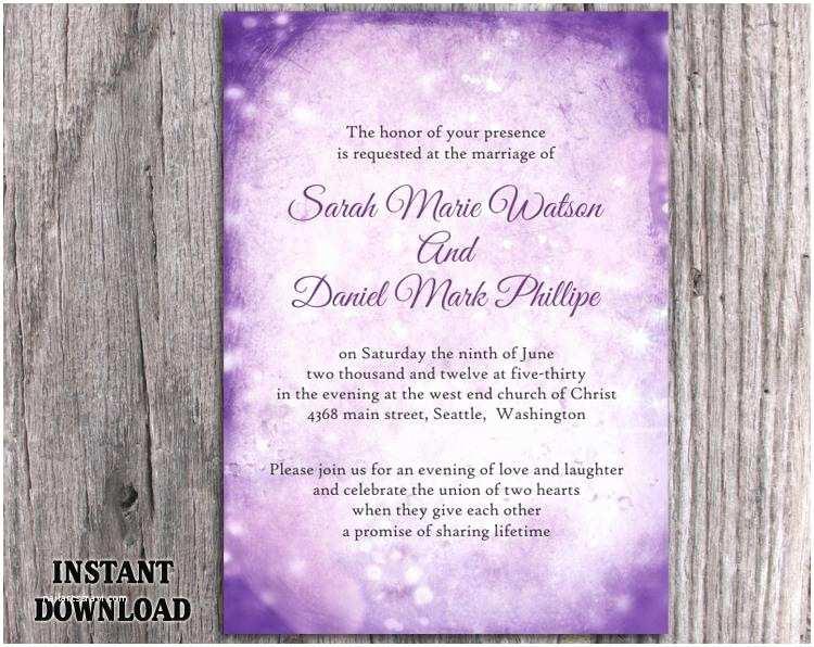 Editable Wedding Invitation Templates Diy Rustic Wedding Invitation Template Editable Word File