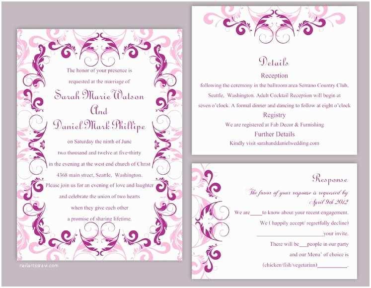 Editable Wedding Invitation Templates Free Download Editable Wedding Invitation Free Download Yaseen for