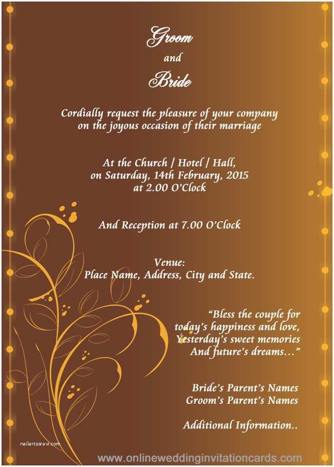 Editable Wedding Invitation Templates Free Download Hindu Wedding Invitation Templates