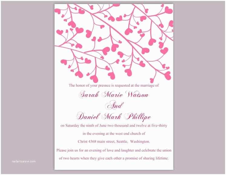 Editable Wedding Invitation Wedding Invitation Template Download Printable Wedding