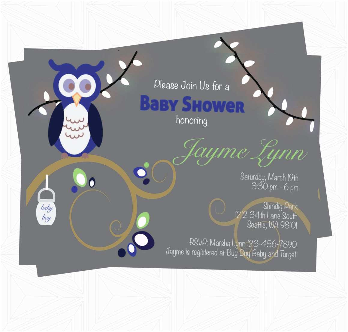 Electronic Baby Shower Invitations Boy Baby Shower Invitation Digital Invitation Baby Shower