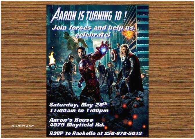 Electronic Birthday Invitations Avengers Electronic Invitation