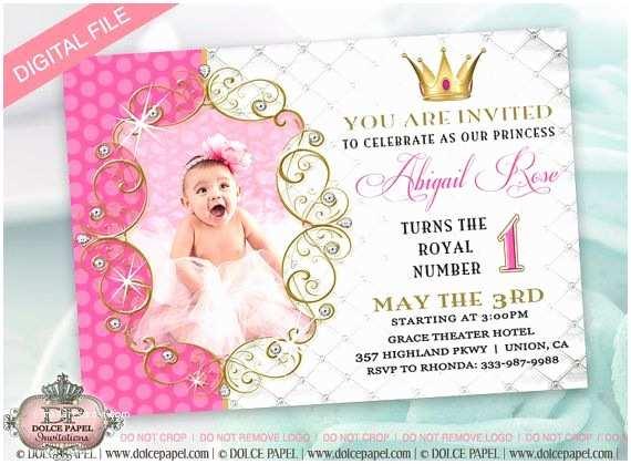 Electronic Birthday Invitations Princess Birthday Party Invitation for Girl Evite