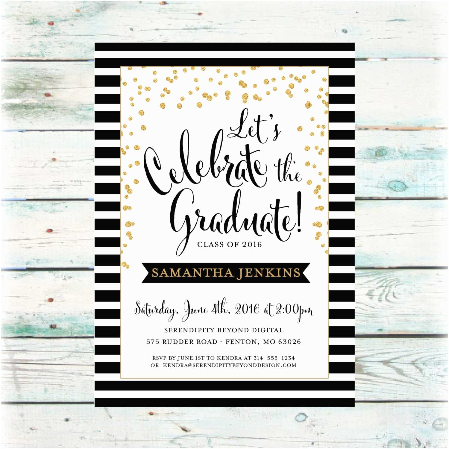 Electronic Party Invitations Classic Graduation Party Invitation Digital File