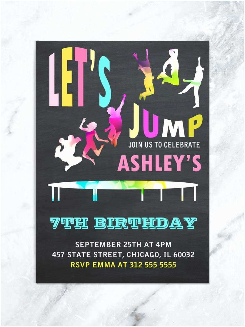 Electronic Party Invitations Jump Birthday Invitation Jump Tumble and Play Birthday